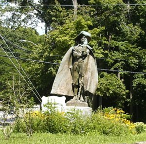 This is the monument of Jacob Leister- near New Rochelle High School