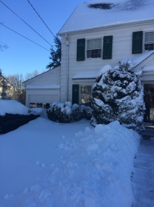If you take a look at the left side of the house the car needed to be dug out. January 24, 2016