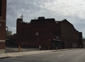 This is the back of 587 Main Street and the Old Loews theater. As you can see there is room for a parking garage above ground or below grade. There could also be room for additional stores, restaurants, and other venues. Please click the photo for a closeup.