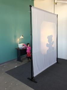 Interactive Shadow box where kids can create their own shadow box Puppets .